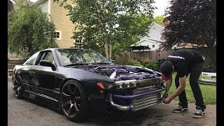 Download Is it drift ready? Drews 240sx finally sees the streets! Video