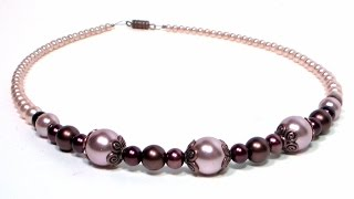 Download Elegant Glass Pearl Necklace Easy Tutorial (Perfect for Weddings, Flower Girls & Special Occasion!) Video