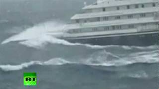 Download Dramatic video of Clelia II Antarctic cruise ship slammed by giant waves Video