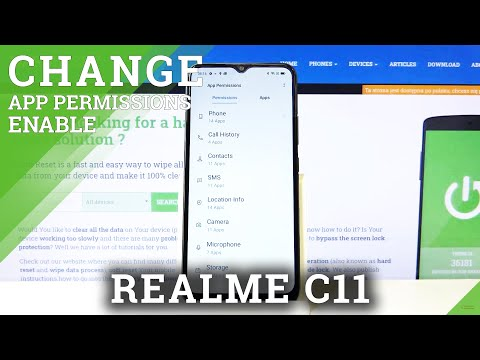 How to Manage App Permissions in REALME C15 – Find App Section