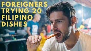 Download FOREIGNERS TRY CRAZY GOOD FILIPINO FOOD & FILIPINO STREET FOOD Video