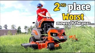 Download Best & Worst lawn Mower of the Year- Husqvarna, Toro Grandstand or Wright stander z Video