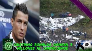 Download CRISTIANO RONALDO DONARA CERCA DE 3 MILLONES DE EUROS PARA EL CLUB Y FAMILIARES DEL CHAPECOENSE Video