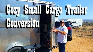 Download A cabin on wheels - Rick's Custom Cozy Tiny Cargo Trailer Conversion Tour Video