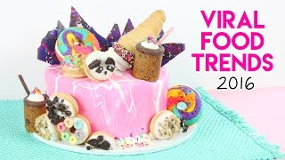 Download VIRAL Food Trends of 2016 Cake! 😱💖 Rainbow Donuts, Cookie Shots, Donut Cones, and more! Video