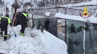 Download Italy avalanche hotel: Death toll rises as desperate search continues Video