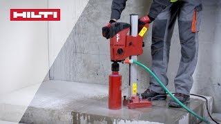 Download HOW TO use Hilti DD 120 diamond coring tool for wet drilling into concrete Video