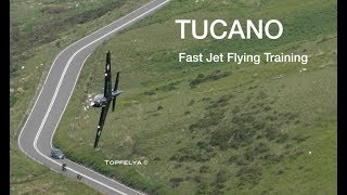 Download Flying through Mountains Low Level Fly Past Tucano Mach Loop Wales 2018 Video