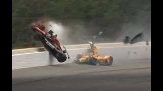 Download Robert Wickens Huge Crash (Best Angles) - Call by IMS Video