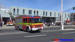 Download [Realeinsatz am Tag der offenen Tür] HLF + DLK FF Bad Homburg Stadt Video
