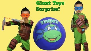 Download Ninja Turtles Out Of The Shadows Giant Surprise Egg Toys Unboxing Opening Fun With Ckn Toys Video