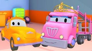 Download Oficina de Pintura do Tom: Flavy é princesa Charlotte | Desenhos animados de caminhão para crianças Video