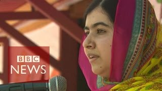 Download Malala turns 18 and opens a school for Syria girls - BBC News Video