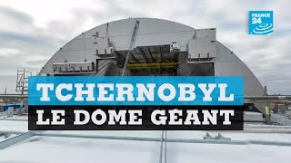 Download Inauguration d'un dôme géant à Tchernobyl Video