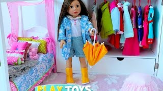 Download Baby Doll House toy play dolls closet wardrobe dress up American girl doll & dollhouse furniture Video