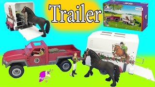 Download Schleich Horses Club Truck and Horse Trailer Playset with Friesian Mare Video