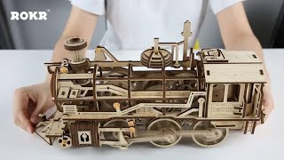 Download Mechanical gear series-DIY Wooden Locomotive LK701 - assembly video Video