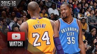 Download Kevin Durant vs Kobe Bryant EPIC DUEL Highlights (2016.01.08) Lakers vs Thunder - DRAMA! Video
