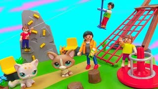 Download Playmobil Playset Zip Line Rock Climbing Wall Activity Playground Park Surprise Blind Bag Happy LPS Video