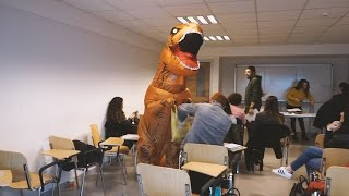Download T-REX GIVING FREE CANDIES IN THE UNIVERSITY!! Video