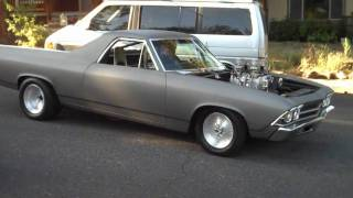 Download Elcamino, El camino, chevy, drag race,blown,smallblock ,test run Video
