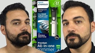 Download Beard Trimming - Philips Norelco Multigroom 7000 - Model MG7750 Video