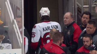 Download Karlsson forced to leave after his ankle appears to twist Video