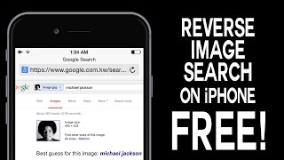 Download Reverse Image Search on iPhone (FREE !) Video