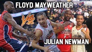 Download Julian Newman vs Floyd Mayweather! Floyd CAN HOOP!? Julian Dropping Buckets in Celebrity Game! Video