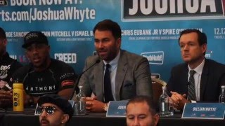 Download EXPLOSIVE!!! ANTHONY JOSHUA v DILLIAN WHYTE - FULL PRESS CONFERENCE WITH UNDERCARD & EDDIE HEARN Video