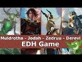 Download Muldrotha vs Jodah vs Zedruu vs Derevi EDH / CMDR game play for Magic: The Gathering Video