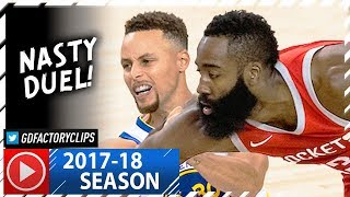 Download James Harden vs Stephen Curry CRAZY Duel Highlights (2017.10.17) Rockets vs Warriors - MUST SEE! Video