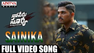 Download Sainika Full Video Song | Naa Peru Surya Naa illu India Songs | Allu Arjun, Anu Emmanuel Video