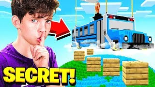 Download I FOUND MY LITTLE BROTHER'S *SECRET* FORTNITE MAP in MINECRAFT! Video