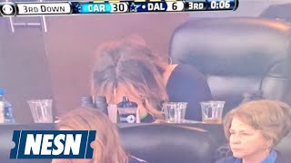 Download Tony Romo's Wife Cries After Cowboys QB Injured Vs. Panthers Video