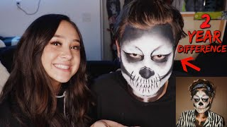 Download Recreating my own Halloween makeup look! Video