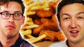 Download People Learn Chicken Nugget Facts While Eating Them Video