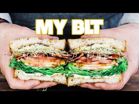 The Ultimate Homemade BLT Sandwich Recipe + Asiago Basil Aioli