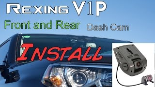 Download Rexing V1P - Dash Cam with Rear Camera - 2016 Toyota 4runner Video