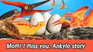 Download [EN] Mom! I miss you. ankylo story!! dinosaur story, animal english learning, collectaㅣCoCosToy Video
