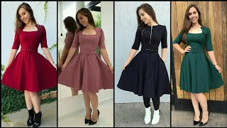 Download Gorgeous Fabulous And Elegant Simple A-Line/Skater Dress Design Video