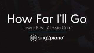 Download How Far I'll Go (From ″Moana″) [LOWER Piano Karaoke] Alessia Cara Video
