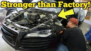 Download I Repaired My Totaled Audi R8's Cracked Frame for $500! Insurance Quoted $29,522! Video