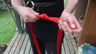 Download how to make an easy climbing waist and chest harness from rope or webbing Video