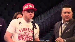 Download ANGRY CANELO ALVAREZ BLASTS ABEL SANCHEZ ″HE CAN COME TOUCH ME IF HE WANTS!″ Video