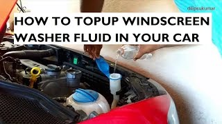 Download How To Topup Windscreen Washer Fluid In Your Car - Instructions & Precautions Video