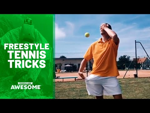 Coolest Freestyle Tennis Tricks | People Are Awesome
