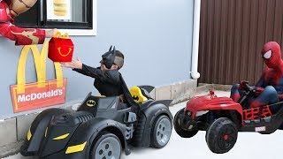 Download McDonalds Drive Thru Prank!! Batman Payback Time for Spiderman Ckn Toys Video