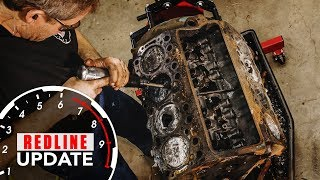 Download Smashing the pistons out of our crusty Buick Nailhead V-8   Redline Update #3 Video