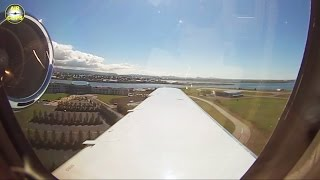 Download Passenger View from Hahn Air VIP Business Jet Landing in Reykjavik on a beautiful day. [AirClips] Video